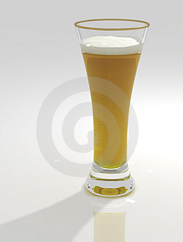 Tall And Sweaty Glass Of Beer Royalty Free Stock Image - Image: 4808726