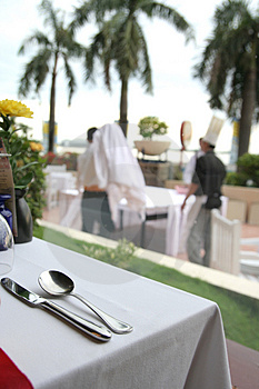 Restaurant Table Royalty Free Stock Image - Image: 4814566