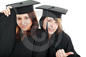 Diploma girls Stock Images
