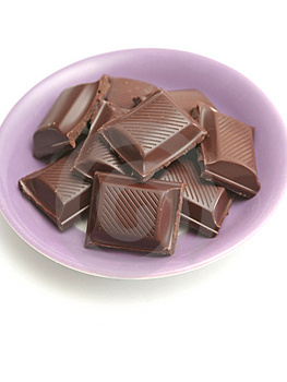 It Is A Lot Of Segments Of Chocolate Lay On A Plat Stock Photography - Image: 4815992