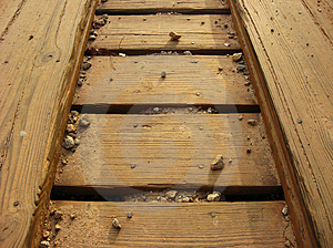 Closeup Of Bridge Planks Royalty Free Stock Photography - Image: 4816617