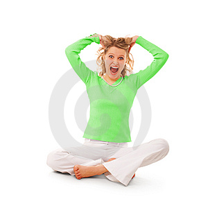 Beauty scream girl Stock Image