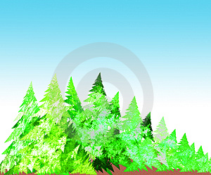 Forest Illustration Stock Photo - Image: 4818420