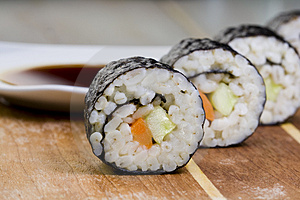Oatmeal Sushi Stock Images - Image: 4823124