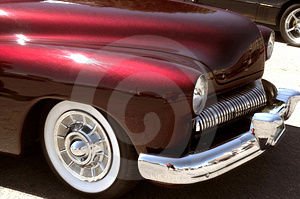Red Custom 50s Car Royalty Free Stock Photography - Image: 4824117
