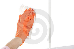 Washing Window Royalty Free Stock Photos
