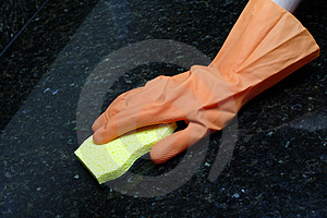 Cleaning Counter Royalty Free Stock Photo