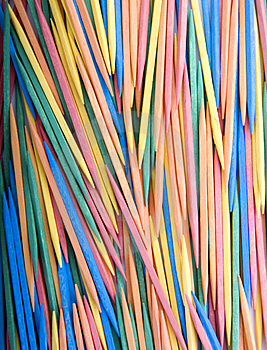 Colored Toothpicks Stock Photo - Image: 4830210