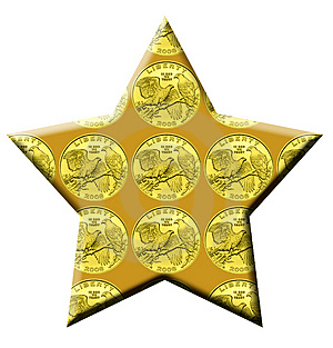 Golden Star Royalty Free Stock Images - Image: 4830519