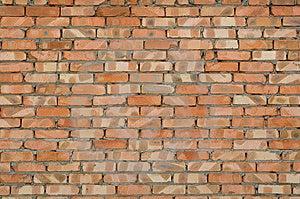 Texture di un vecchio muro di mattoni.