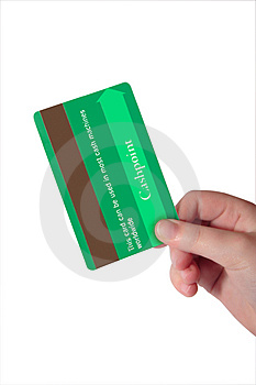 Fake green credit card 3 Royalty Free Stock Image