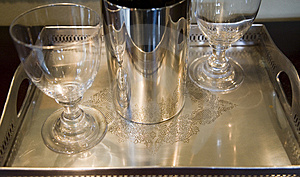 Silver Tray Royalty Free Stock Photography - Image: 4834547