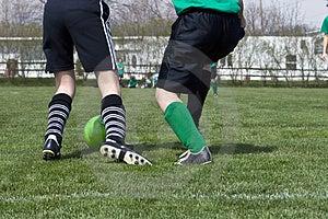 Fußball-Fuß-Aktion Stockfoto - Bild: 4836950