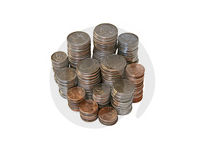 Stacks Of Coins Stock Photo - Image: 4837340