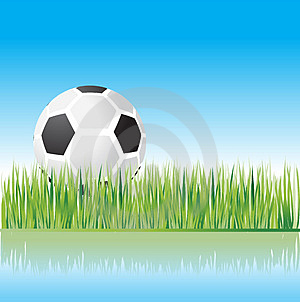 Football On Grass, Nature Stock Photo - Image: 4838130