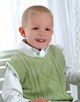 Chłopiec Na Huśtawce Fotografia Stock - Obraz: 4847172