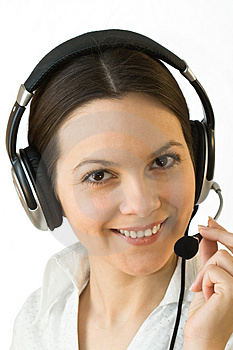 Young beautiful woman with headphones Royalty Free Stock Photography