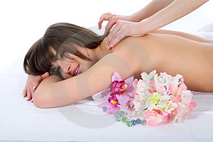 Relax massage to the girl