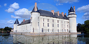 Chateau And Moat, France Stock Photography - Image: 4849342