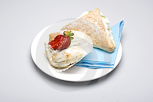 Creamy Cakes Stock Images - Image: 4851134