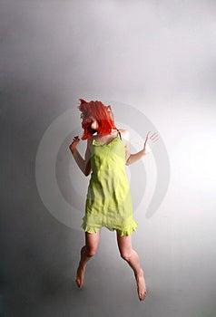 Sprong Voor Vreugde… Royalty-vrije Stock Afbeelding - Afbeelding: 4852446