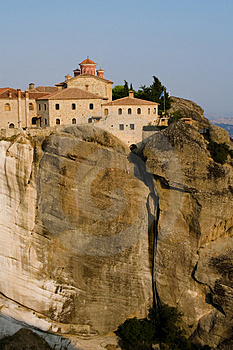 Meteora Monastery Royalty Free Stock Images - Image: 4857439