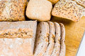 Sliced bread with bread buns Stock Photography