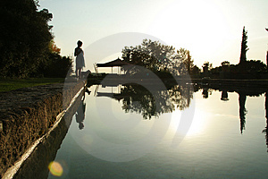Sunrise Swimming Pool Royalty Free Stock Photo - Image: 4861715