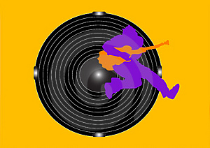 Guitar And Woofer Royalty Free Stock Image - Image: 4865936