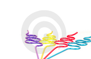 Party Straws With Copy Space Royalty Free Stock Image - Image: 4866236
