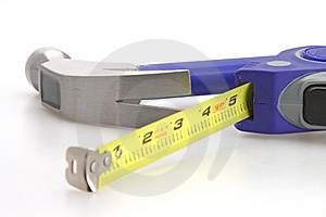 Hammer Tape Measure Royalty Free Stock Photo - Image: 4868235