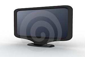 Black Monitor With Blue Shade Royalty Free Stock Photos - Image: 4871388