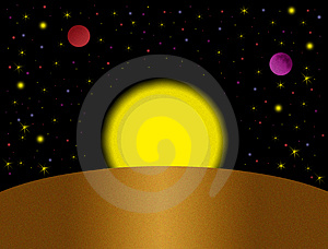 Fantastic Space Royalty Free Stock Images - Image: 4873429