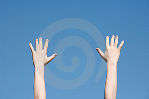 Hands in the Sky Royalty Free Stock Photography