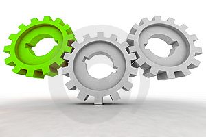 Isolated Cogwheels Royalty Free Stock Images - Image: 4885979