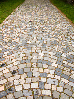 Paved Road To Monastery Royalty Free Stock Photo - Image: 4894505