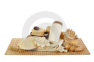 Beauty spa set Royalty Free Stock Photography