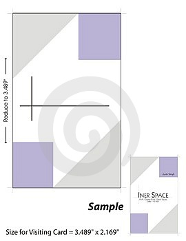 Visiting Card Template - 1 Stock Image - Image: 4896001