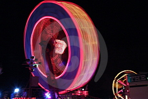 Fair Ground Ride At Night Stock Image - Image: 4896591
