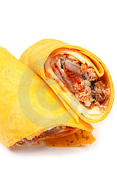 Pulled Pork And Provolone Wrap Stock Images - Image: 4898654