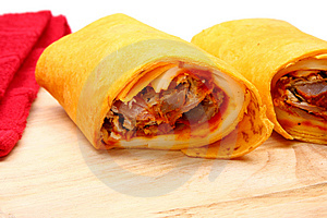 Pulled Pork And Provolone Wrap Royalty Free Stock Photo - Image: 4898665