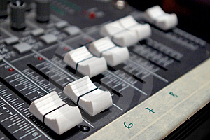 Faders Stock Photo - Image: 4899910