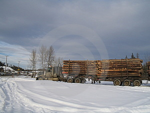 Logging Truck Ready To Go Stock Images - Image: 497734