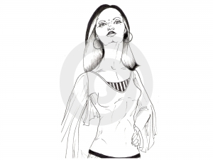 Modèle Noir Et Blanc #1 De Cheveux Photographie stock libre de droits - Image: 498117