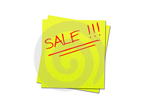 Sticky Note Yellow Royalty Free Stock Photos - Image: 4904118