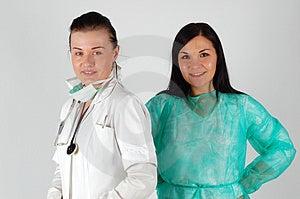 Médecins Féminins Images libres de droits - Image: 4907259