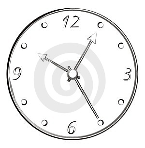 Brush Stroke Art - Clock Stock Image - Image: 4908551