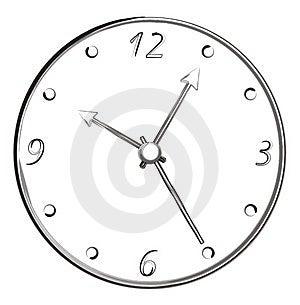 Bürsten-Anschlag-Kunst - Uhr Stockbild - Bild: 4908551