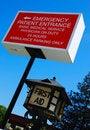 Hospital Emergency Signage Royalty Free Stock Photo