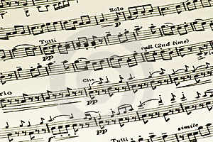 Sheet Music Royalty Free Stock Image